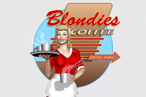 Blondies Coffee Logo