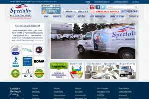 Specialty Heating & Cooling Website