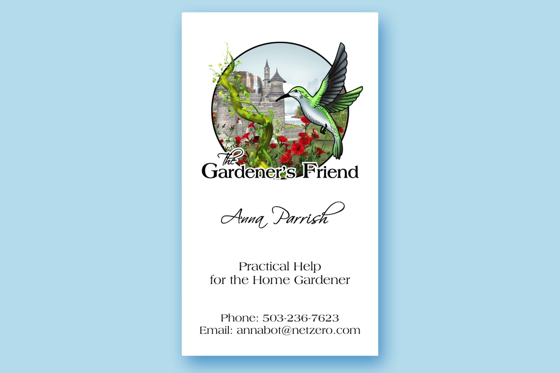 The Gardeners Friend Business Card