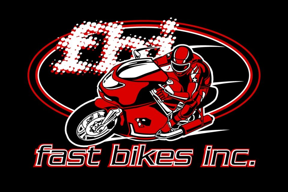 Fast Bikes Logo On Black
