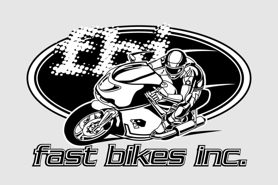 Fast Bikes Logo Black and White